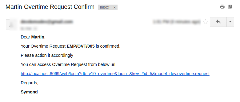 Confirm Mail Employee