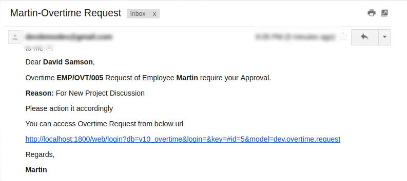 Department Manager mail